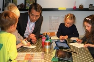 Japansk besøg i Børnehuset Hanen