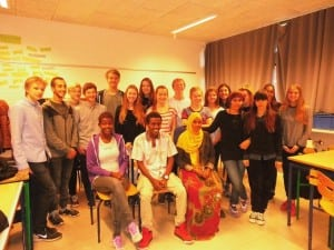 Asylansøgere besøger Sct. Jørgensskolen