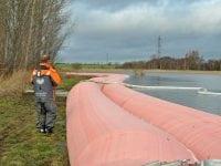 Roskilde-virksomheden, Environment Solutions, producerer og eksporterer mobile dæmninger til brug ved oversvømmelser. Foto: Environment Solutions