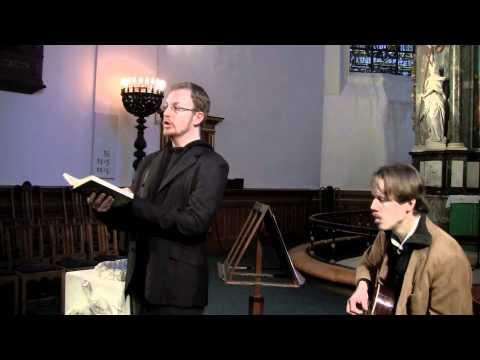Kordegn synger i natkirken