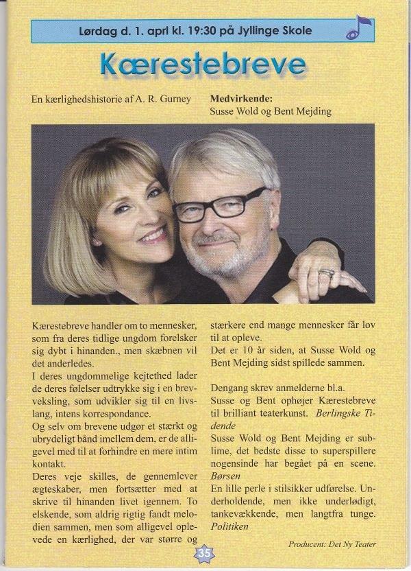 """Susse Wold og Bent Mejding i """"Kærestebreve"""""""