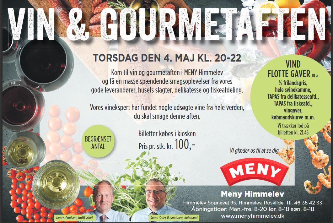 Vin & Gourmetaften i Meny Himmelev
