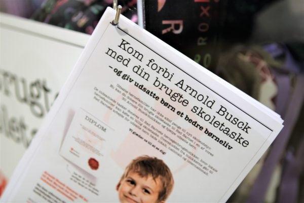 Brugte skoletasker fra Roskilde hjælper udsatte børn