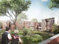 Det kommende plejecenter Hyrdehøj bliver et moderne og attraktivt plejecenter. Her bliver der fokus på at indrette boliger og udearealer særligt til borgere med forskellige grader af demens, så beboerne kan føle sig hjemme i trygge rammer.