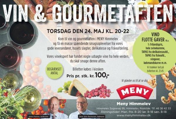 Vin og Gourmetaften i Meny