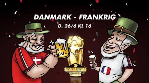 VM: Danmark - Frankrig på pubben