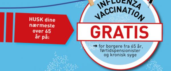 Bliv gratis vaccineret mod influenza inden udgangen af 2018