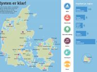 Kort: Sådan fordeler de 50 projekter sig langs kysterne