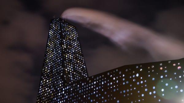 Borgerne styrer lyset på energitårnet til Roskilde Lysfest