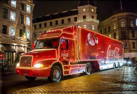 Pressefoto: Coca-Cola julelastbilen
