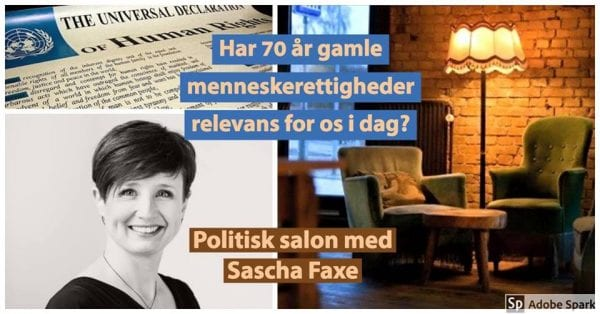 Politisk salon med Sascha Faxe