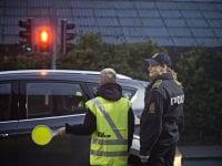 SIKKER TRAFIK Skolepatrulje og færdselsbetjent ved Marie Mørks Skole i Hillerød