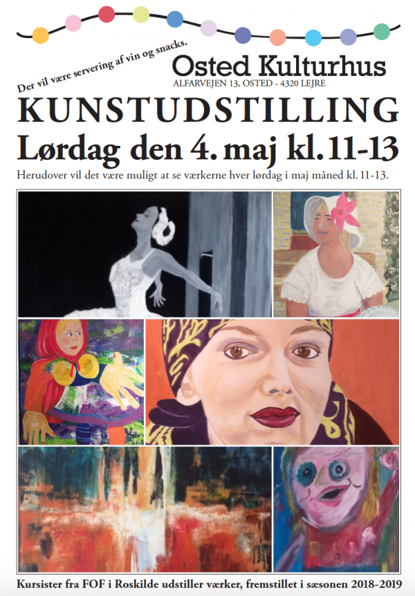 Kunstudstilling i Osted Kulturhus