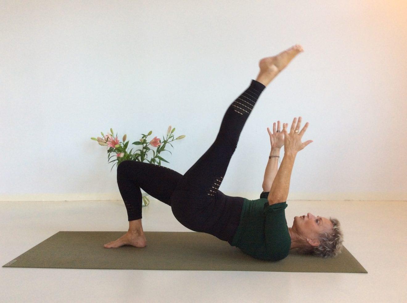 Prøv online Hatha Yoga time på stuegulvet