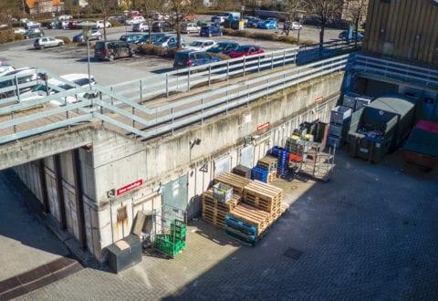 Sortebrødre Plads overdækning af varegård / Pressefoto Roskilde Kommune