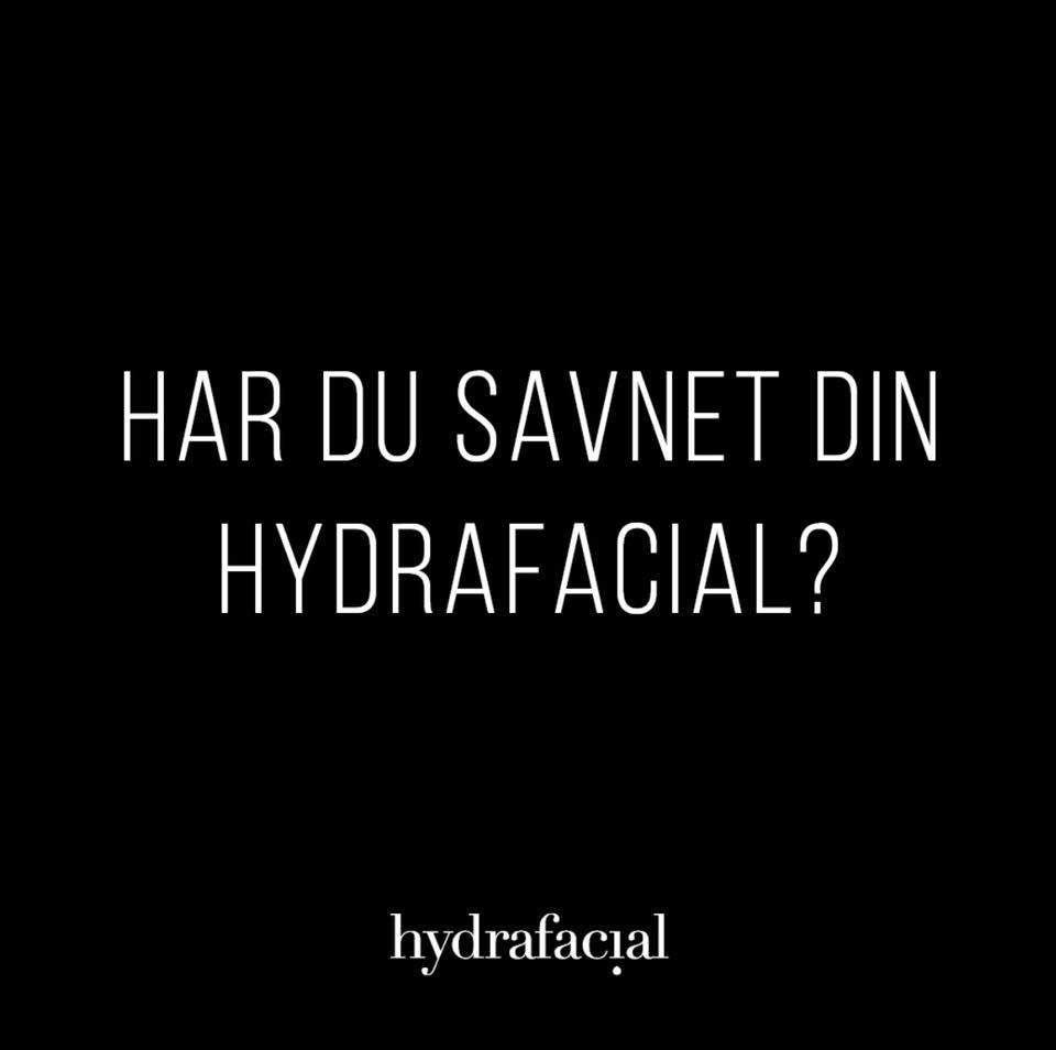Har du prøvet en Hydrafacial behandling?