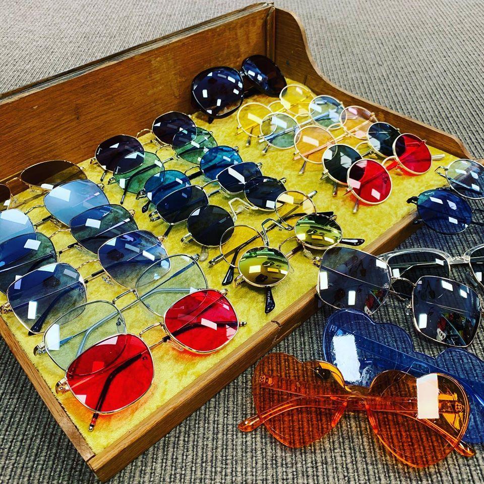 Fede retro solbriller