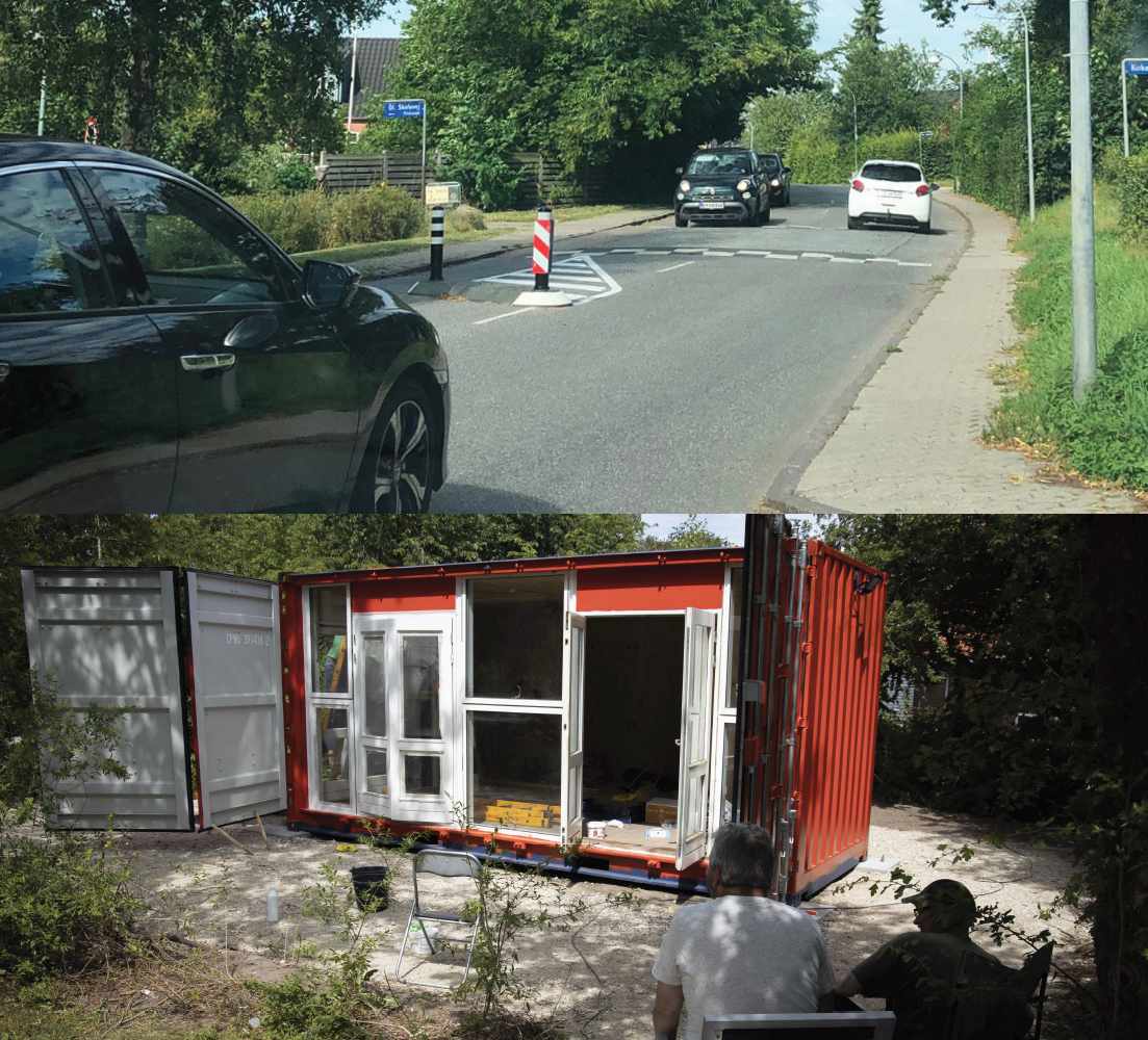 Indvielse af bedre trafiksikkerhed i Gadstrup og opholdsted i Roskilde Ring Park