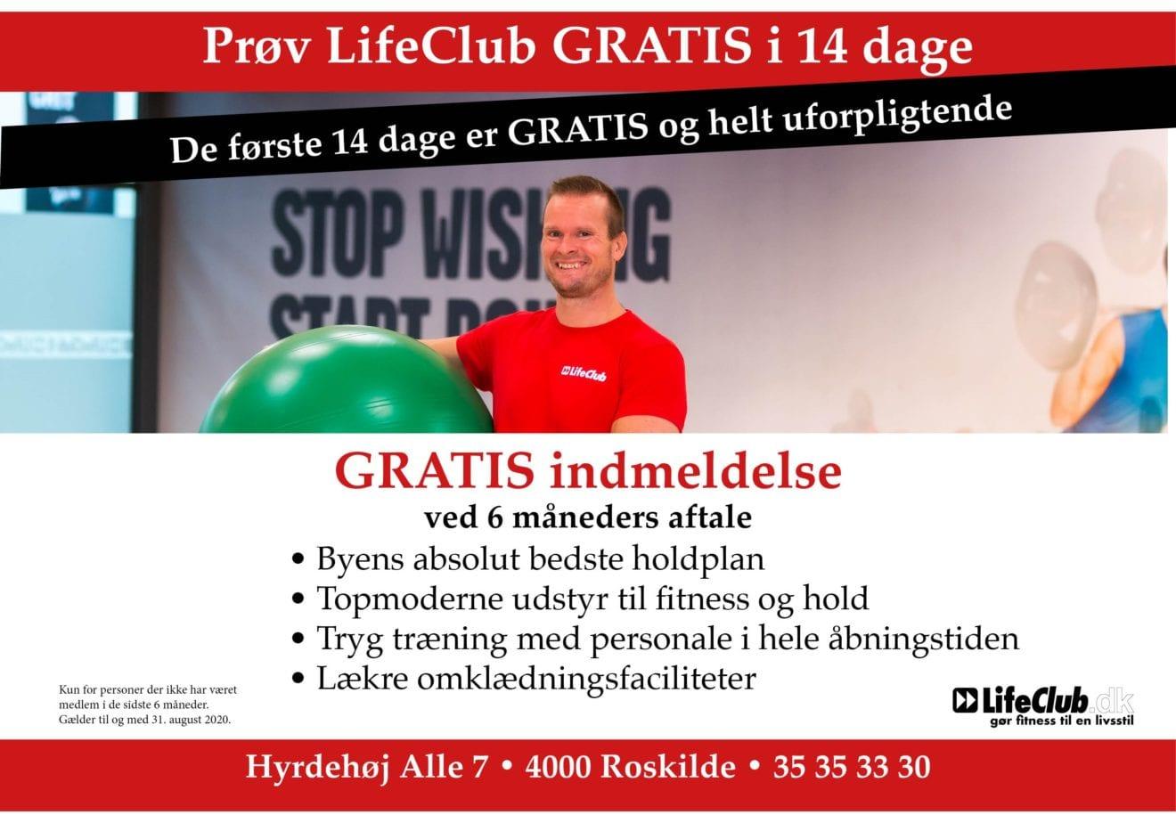 Træn 14 dage gratis i LifeClub