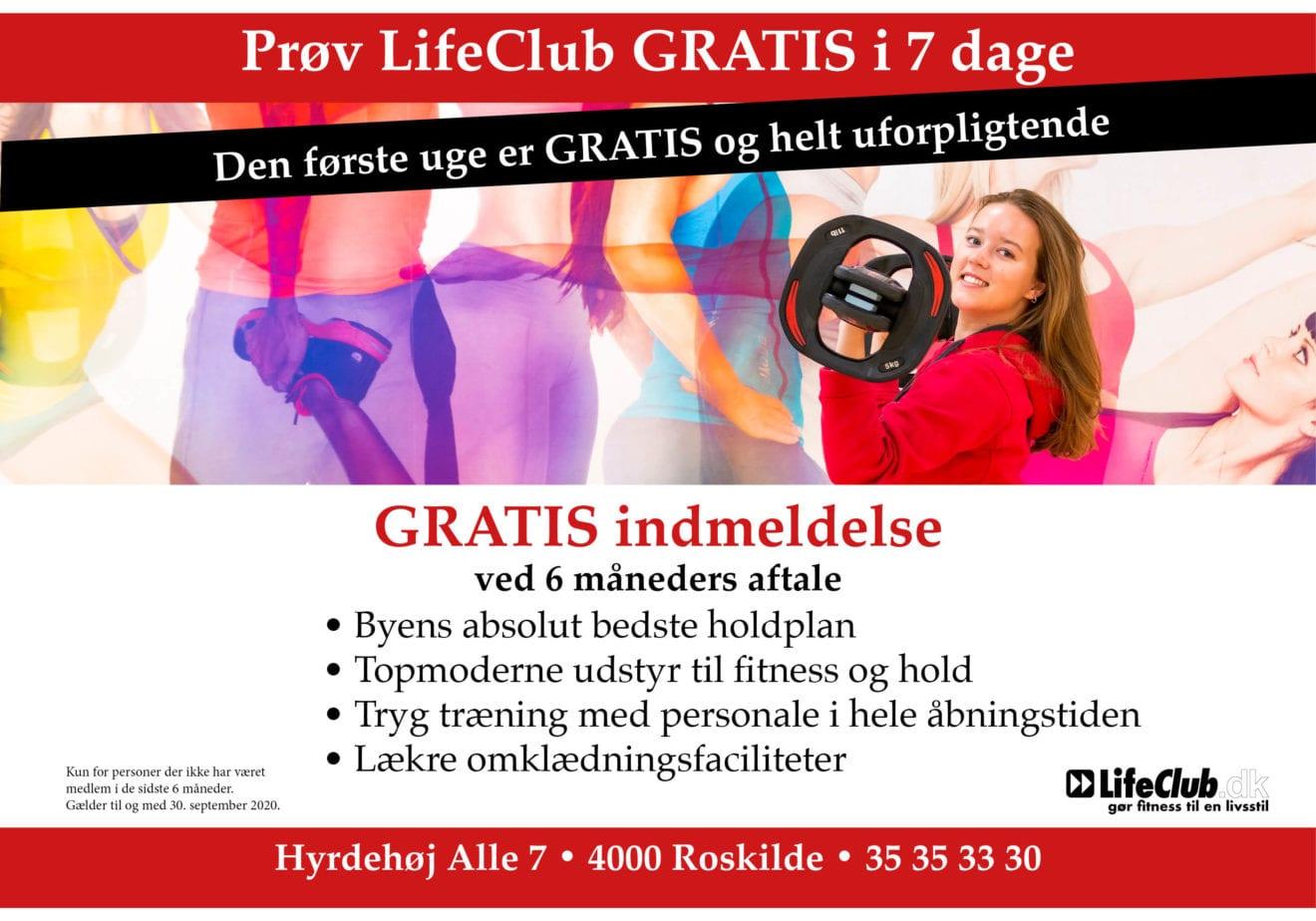 Træn en uge gratis i LifeClub i september