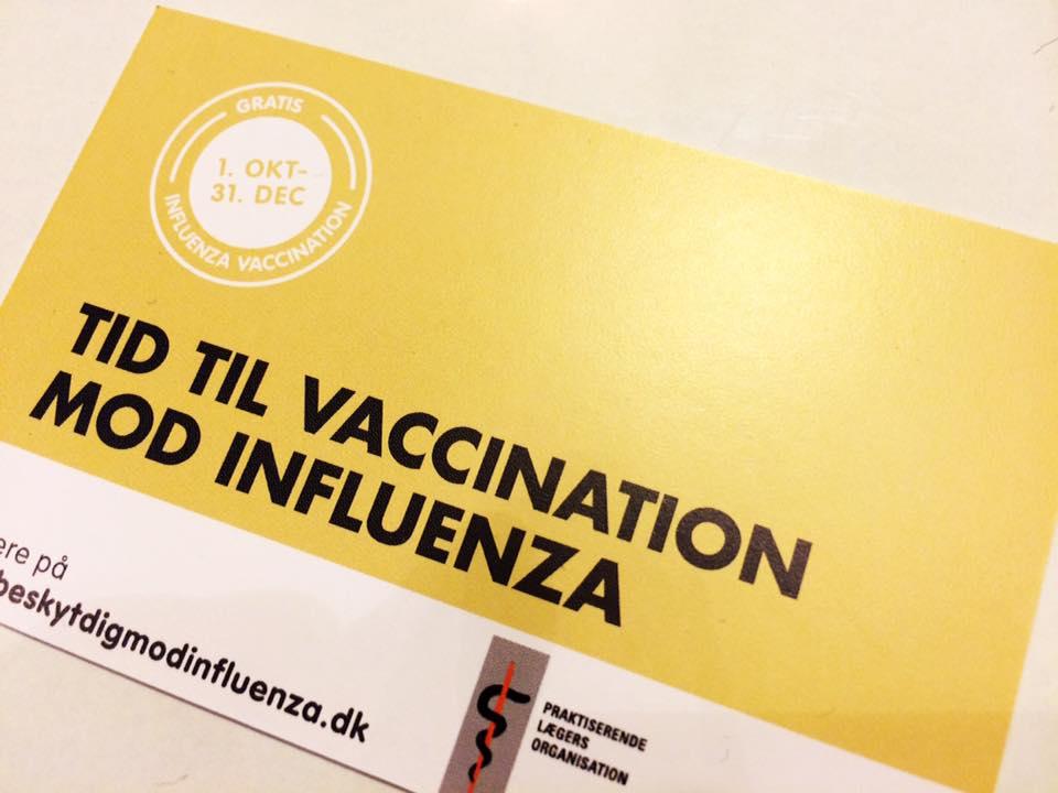 Gratis vaccination til alle over 65 år