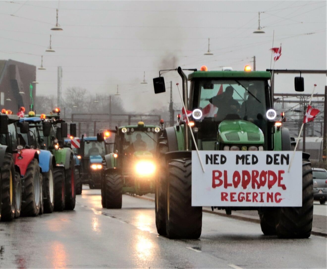 Over 450 traktorer med i lørdagens demonstration