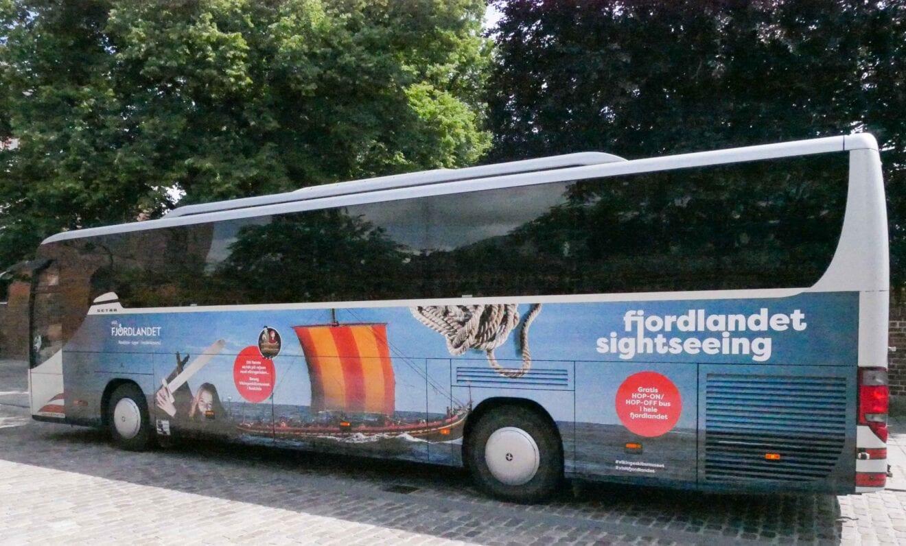 Gratis hop on/hop off-bus i Fjordlandet fra på mandag