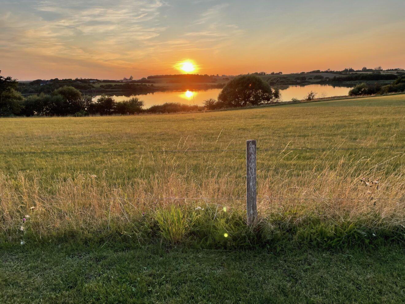 Solnedgang ved Svogerslev sø